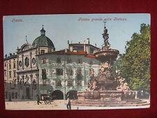 TRENTO- PIAZZA GRANDE CON LA FONTANA, viagg, animata, anni 20 #11110