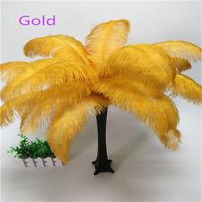 Wholesale, 10-100pcs beautiful ostrich feathers 6-16inches/15-40cm 16 colors