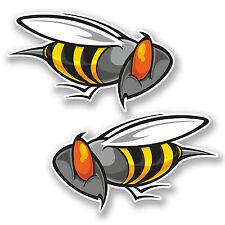 2 X 10 Cm De Angry Wasp Bee Vinilo calcomanía de pegatinas cool funny Laptop calcomanía Bicicleta # 5647