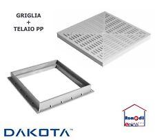 TELAIO PVC 55 X 55 PLASTICA + GRIGLIA GRATA SCOLO ACQUA DACOTA PLUS PP DIVISI