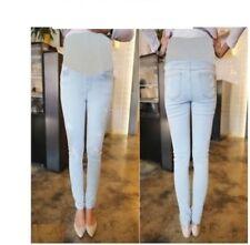 Maternity jeans OverBump Skinny Slim Straight Leg Pregnancy Denim Pants 12 14 16