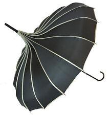 Soake Stunning Classic Ribbed Plain Pagoda Style Long Walking Umbrellas