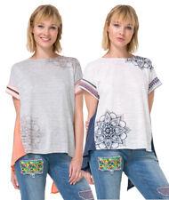 Desigual Long Braided Back Creta Tshirt Top S-L UK 10-14 RRP�54