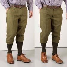 Men's Breeks Huntsman Derby Check Tweed Shooting Hunting Cropped Short Trousers