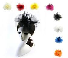 Headwear Net Veil Flower Fascinator Feather Headdress Hair Clip Wedding Party