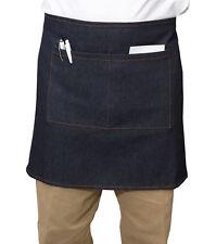 100% Cotton Denim Half Apron Split Pocket Money Pouch Car Boot Market 69 x 46cm