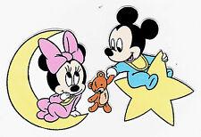 "3""-4.5"" Disney babies baby mickey minnie mouse moon star heat transfer iron on"
