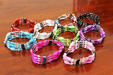 Lot of 2 Magnetic Hematite Gemstone Chips Beads Bracelet Bangle Chain Necklace