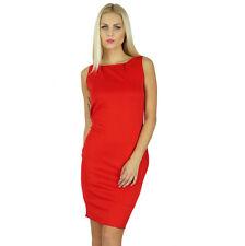 Bimba Women Bodycon Red Dress Above Knee Sleeveless Prom Dress
