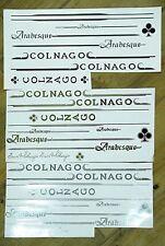 COLNAGO Arabesque frame decals set. For restoration, tuning. Gold, silver, black