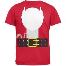 Santa Beard Costume Red Adult T-Shirt
