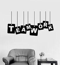 Vinyl Wall Decal Teamwork Office Work Worker Motivation Stickers (ig4165)