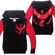 Pokemon Go Terms Boys Fall Zipper Hoodie Sweatshirt Jacket Halloween Costume O56