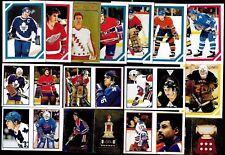 1985-86 OPC O PEE CHEE NHL HOCKEY STICKER 1-254 SEE LIST