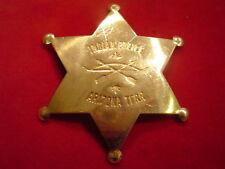 "Badge: "" Indian Police, Arizona Terr."", brass star, Lawman, Old West"