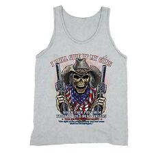 Give Up My Guns Tanktop American USA Cold Flag Dead Skull 2nd Second Amendment
