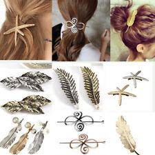 Vintage Stylish Leaf/Feather/Star Shape Elegant Hair Clip Boho Barrette Clasp