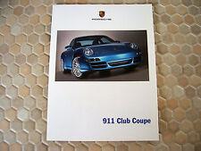 PORSCHE 911 997 CARRERA CLUB COUPE LIMITED EDITION SALES BROCHURE 2006 RARE USA