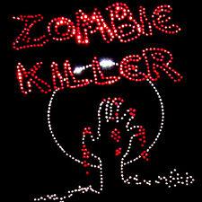 Zombie Asesino Estoperoles De Piedrería Pesado Con Capucha Sudaderas (Cualquier