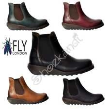 femmes Fly London Salv Cuir Chelsea Bottine cheville talon bas choix de couleurs