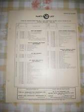 AUSTIN PRINCESS - c1957 - SU CARBURETTER - GENUINE SERVICE PARTS LIST - AUC9625