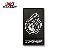 2015-20 Mustang - Alpha Turbo Grille Trunk Badge - Black - Aluminum - X-Badger