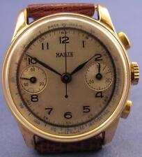 Valjoux 23 Chronograph mens wristwatch Haste Gold Filled case 32 mm. in diameter
