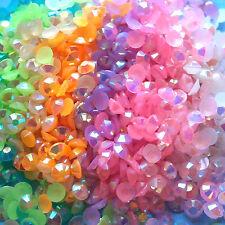 1000 Crystal Flat Back Iridescent Resin Rhinestones Gems Jelly AB 3mm or 4mm