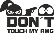 Don´t touch my AMG - Aufkleber Sticker Vinyl Decal Folie Schriftzug Logo