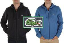 NWT Lacoste Men's Contemporary Full Zip Hooded Fleece Sweatshirt