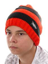 O` Neill Bonnet tricoté Bonnet de ski garçons tous Year rouge rayures tricot