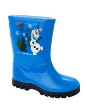Disney Frozen Niño Olaf Tema Botas Agua Azul Marino PVC, sin Cierres, Media Caña