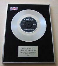 BUDDY HOLLY Brown Eyed Handsome Man BO DIDDLEY PLATINUM PRESENTATION DISC