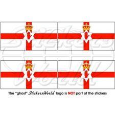 NORDIRLAND Flagge IRISCHEN Fahne Irland 50mm Vinyl Sticker Aufkleber x4