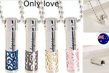 Valentine's Day Lover Gift Heart Love Couple Pill Bottle tube Pendant Necklace