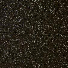 Glitterate GLITTER NERO VINILE Pulire PVC TABLECLOTH Sparkle