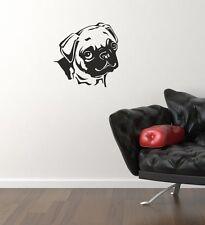 Pug Perro Pared Arte Pegatina Adhesivo Decoración Hogar Salón Cocina pupppy Dormitorio Hazlo tú mismo