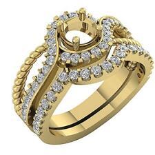 Semi Mount Bridal Engagement Real Diamond Ring I1/G 1.00Ct Prong Set 14Kt Gold