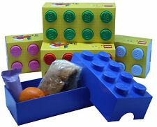 LEGO LUNCHBOX/STORAGE BRICK NEW 6 COLOURS