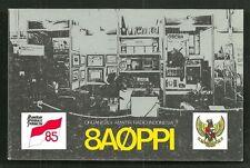 Jakarta QSL card 8AØPPI ORARAI Studio Exposition Java Indonesia 1985