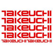 takeuchi aufkleber sticker bagger excavator 6 Stücke Pieces