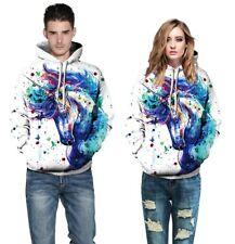 Womens Mens 3D Printed Unicorn Hoodie Sweatshirt Sweater Pullover Jacket Coat