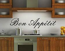 Wall Art Kitchen Stickers Bon Appetit  Quote Vinyl Decal Bedroom Bathroom