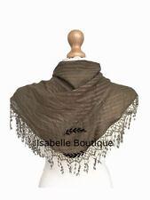 Sciarpa Triangolo Donna Ragazze Maglia collo sciarpe donna fiocchetto basso di lenza