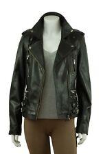 Ladies Black Napa Slim Short Tight  Fitted Biker Leather Jacket Bike Fashion