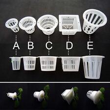 10X Clear White Mesh Pot Net Cup Basket Hydroponic Aeroponic Plant Grow Clone
