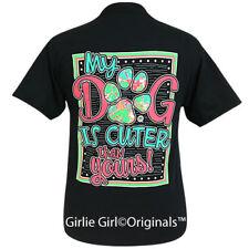 "Girlie Girl Originals ""My Dog"" Black Short Sleeve T-Shirt"