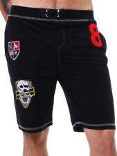 ReRock Herren Shorts Trainingshose kurz schwarz black slimfit *