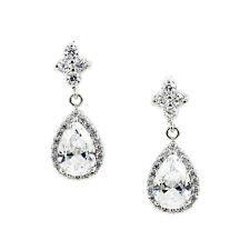 Kristin Perry Bridal Crystal Cz Chandelier Teardrop Earrings Bridesmaid Jewelry
