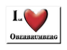 DEUTSCHLAND SOUVENIR - BAYERN KÜHLSCHRANKMAGNET ICH LIEBE OBERBRUMBERG (HOF)